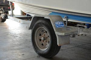 Boat Trailer Wheel Hub Temperature label