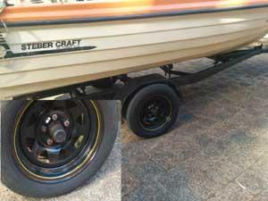 Boat Wheel Hub Temperature label