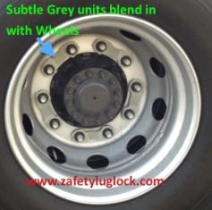 Zafety Lug Locks - Wheel Nut Locks Grey Plastic