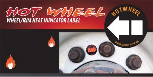 Hot Wheel Hub Temperature label