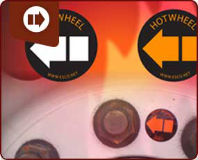 Hot Wheel Hub Temperature Labels